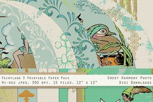 Fairyland Woodland Boy Blue Papers