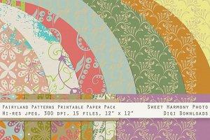 Fairyland Folk Floral Vintage Paper