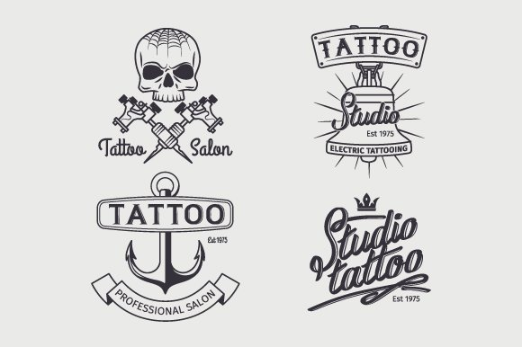 Tattoo studio logo templates ~ Graphic Objects ~ Creative