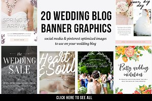 20 Wedding Blog Banner Graphics PSD