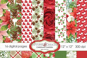 Garden Of Christmas 16 Papers