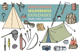 Hand Drawn Wilderness Explorers
