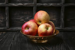 Harvest autumn apples
