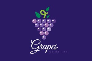 Nature grapes logotype vector