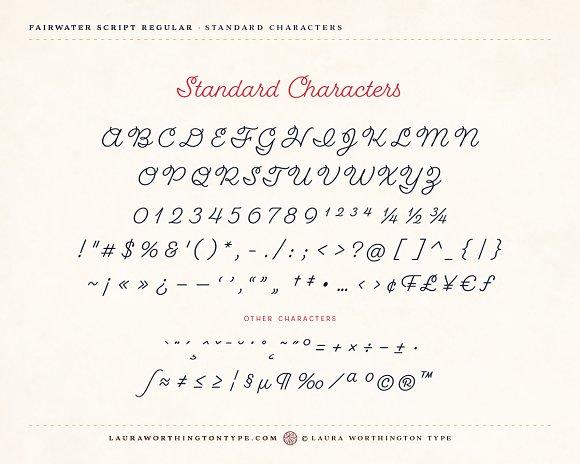 Fairwater Script Regular Fonts Creative Market
