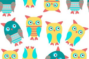 6 Animals pattern, vector images