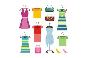 Set of Women Clothes Items