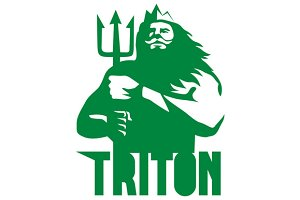 Triton Trident Isolated Retro