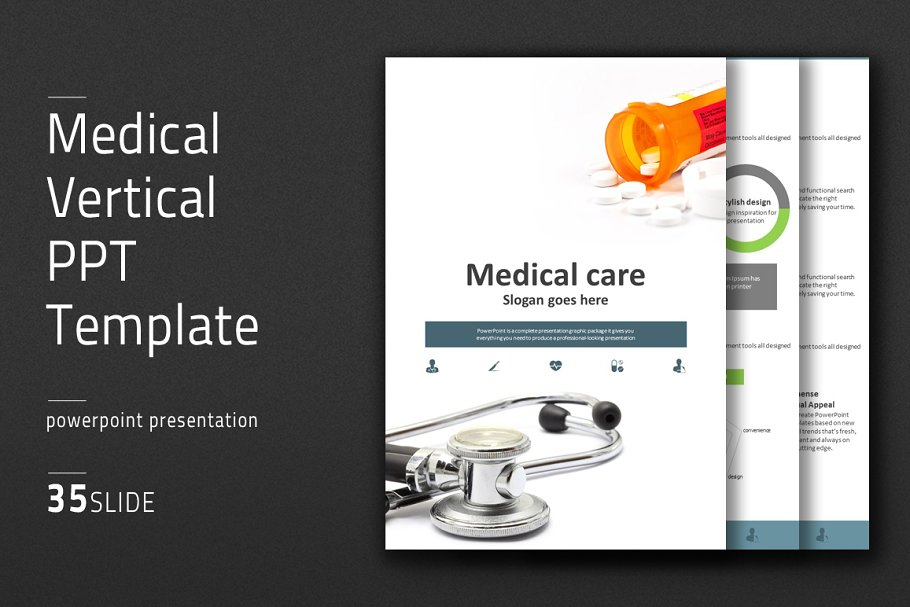 Medical Vertical Ppt Template Powerpoint Templates