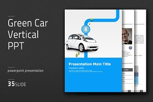 Green Car Vertical PPT