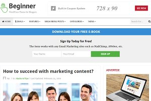 Beginner WordPress Theme