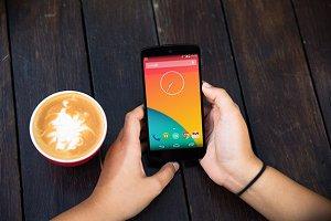 Nexus5 Template, Coffee Break2 (S)