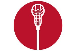 Lacrosse Stick Circle Icon