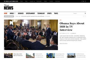 TrueNews WordPress Theme