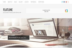 FlatLine WordPress Theme