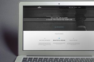 Allure - Creative PSD Template