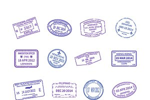 Visa travel stamps