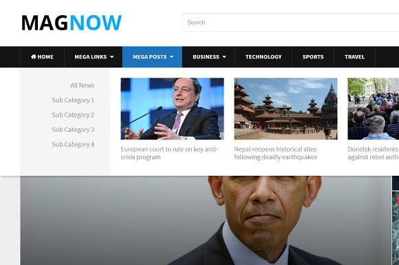 MagNow WordPress Theme