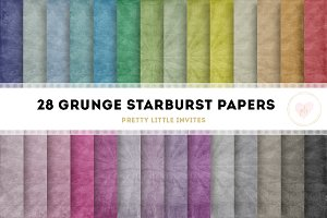 Grunge Starburst Digital Papers