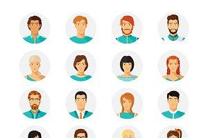 Human avatar set