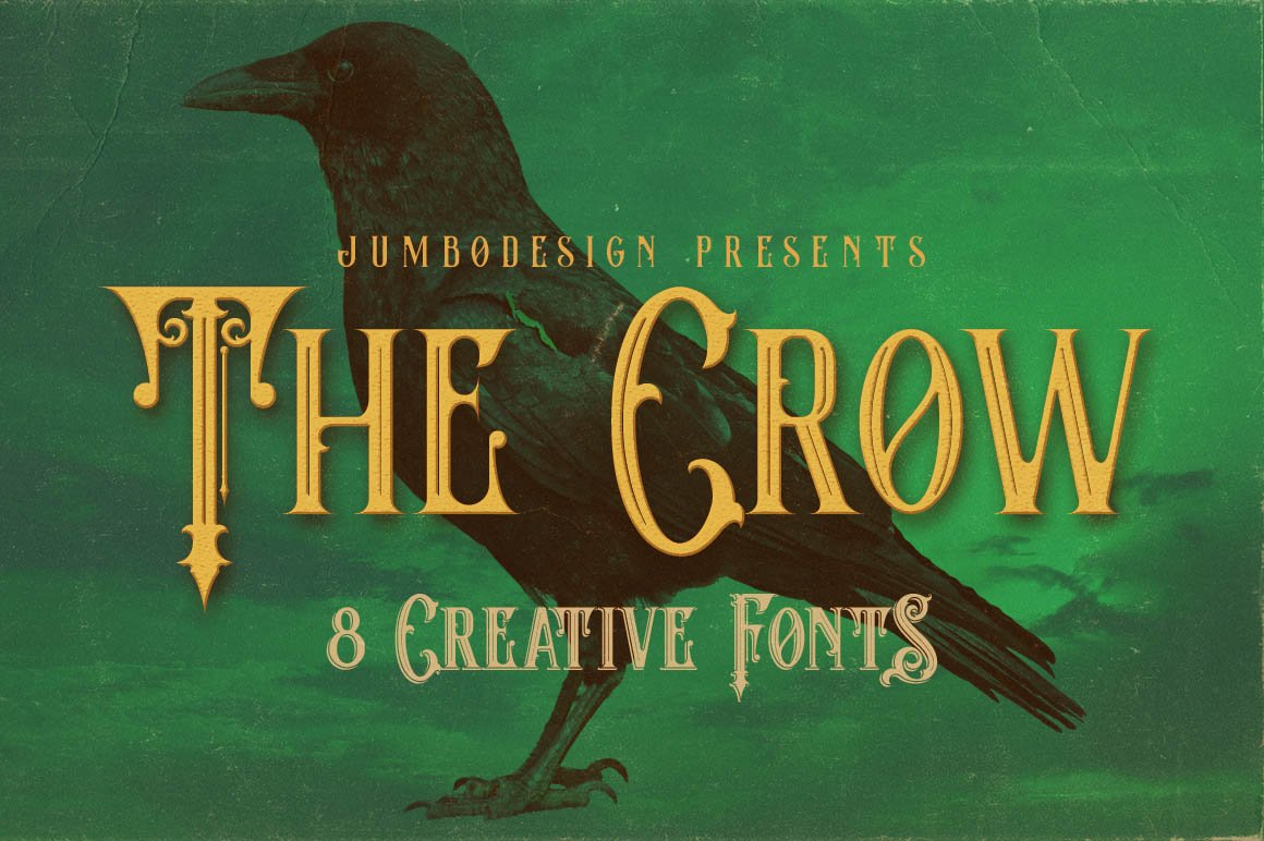 The Crow Vintage Style Font Display Fonts Creative