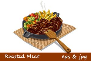 Roasted Meat with Vegetables