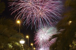 Castle Fireworks in Elche.