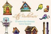 Little Birdhouses - clip arts