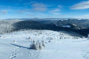 Winter Carpathian mountains