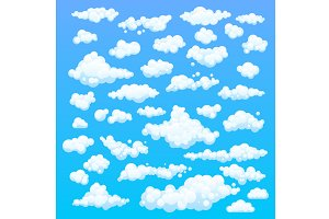 Cartoon clouds. Illustration vector