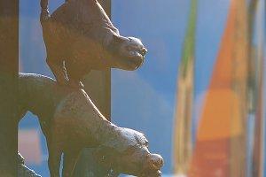 Monument Bremen Town Musicians Riga