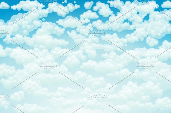 Vector clouds. Cartoon clouds.  - Graphics