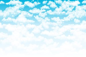 Blue sky clouds. Vector background
