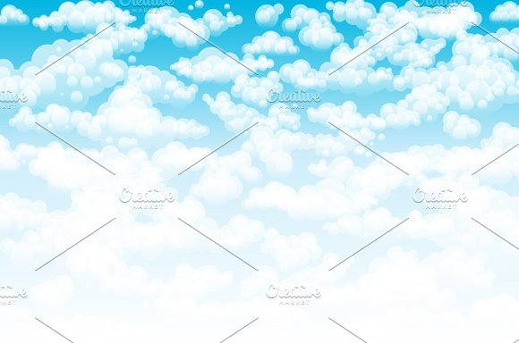 Blue sky clouds. Vector background - Graphics