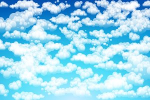 Vector clouds. Cartoon clouds.