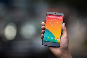 Nexus5 Template, Traffic Blur (S)