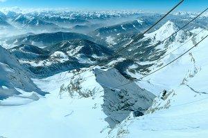Winter mountain panorama(Austria)