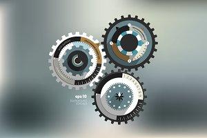 Cog wheel diagram.