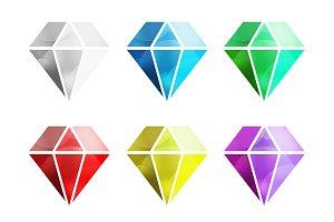 Vintage old diamond logo vector