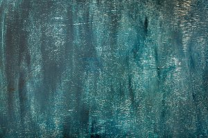 Blue painted old plywood texture