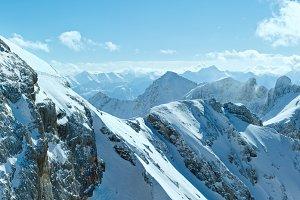 Winter mountain panorama (Austria)
