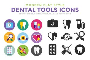 Tooth Icon vector logo set