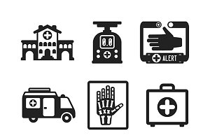 Medical flat iconset