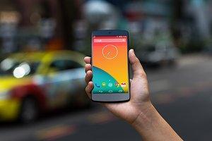 Nexus5 Template, Taxi Blur (S)