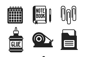 Office flat iconset