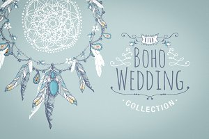 Boho chic wedding & blog collection