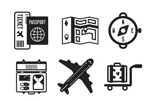 Travel flat iconset
