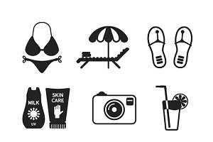 Vacations flat iconset