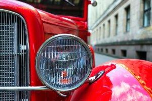 Headlamp of vintage red