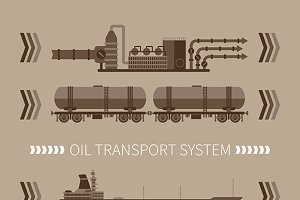 Mineral oil transport system